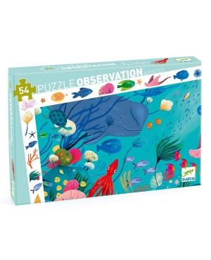 Puzzle d'observation FONDS MARINS - 54 pièces - DJECO
