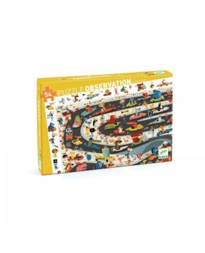 Puzzle d'observation RALLYE AUTOMOBILE - 54 pièces - DJECO