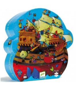 Puzzle Silhouette BATEAU DE BARBEROUSSE - 54 pièces - DJECO