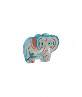 Puzzle Silhouette HAATHEE ELEPHANT D'ASIE  - 24 pièces - DJECO