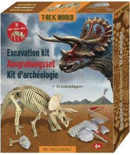 Mini kit de fouilles archéologique Triceratops