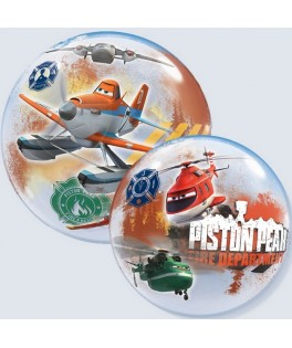 "Ballon single Bubble Planes Fire & Rescue Disney (22"" - 56 cm)"