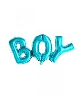 Ballon alphabet BOY bleu