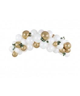 Kit Arche de ballons Blanc/Or