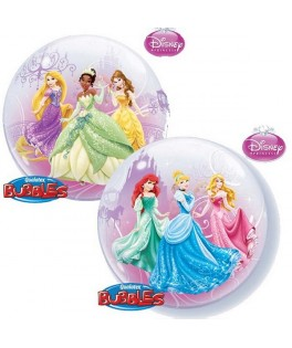 "Ballon single Bubble Princesses Disney Le Bal Royal (22"" - 56 cm)"