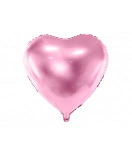 Ballon Coeur métallisé rose 61 cm