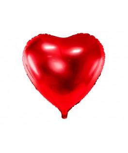 Ballon Coeur métallisé rouge 61 cm