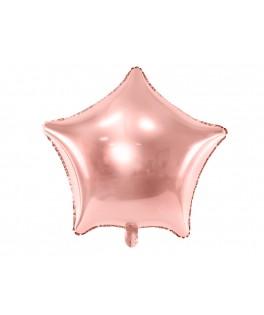 Ballon Etoile métallisé rose gold 70 cm