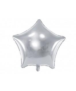 Ballon Etoile métallisé argent 48 cm