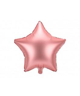 Ballon Etoile métallisé rose gold 48 cm