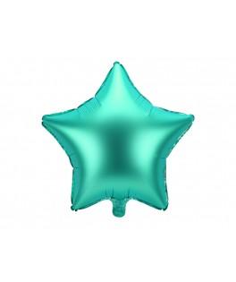 Ballon Etoile métallisé vert 48 cm