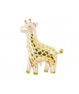 Ballon Girafe métallisé