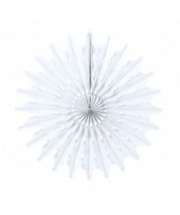 Eventail blanc 53 cm