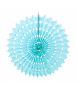 Eventail bleu ciel 53 cm