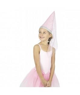 Chapeau de fée rose à paillettes