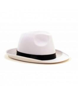Chapeau Borsalino tissu blanc luxe
