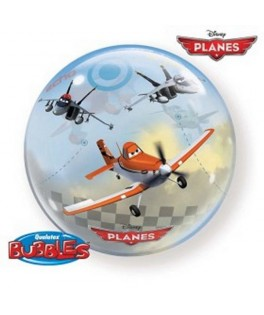 "Ballon single Bubble Planes Disney 22"" - 56 cm"