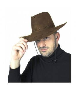 Chapeau Cowboy Buffalo luxe marron