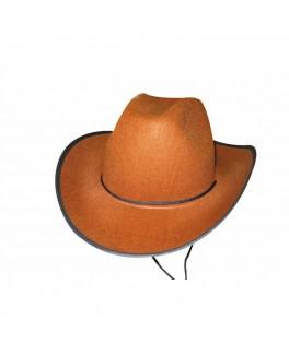 Chapeau Cowboy feutre marron
