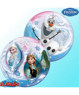 Ballon single Bubble Reine des Neiges
