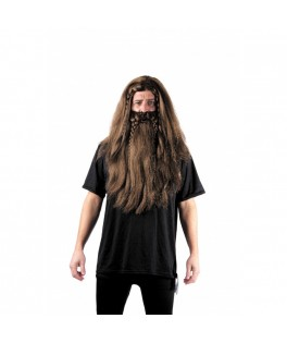 Perruque & Barbe Viking rousse