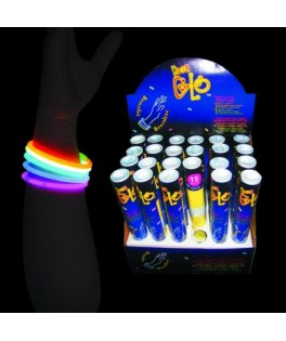 Tube de 15 bracelets lumineux