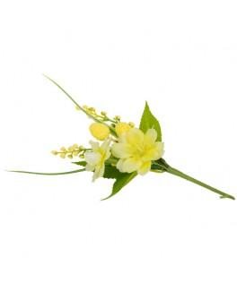 Mini bouquet de primevères jaunes