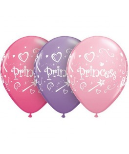 Ballons latex Princesses Rose Fushia et Parme  x25