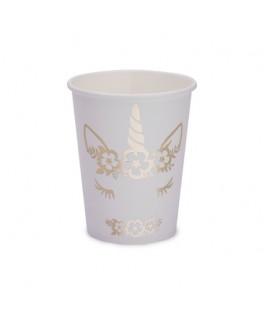 8 Gobelets Licorne dorée