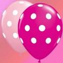 25 Ballons gros pois roses & fushia