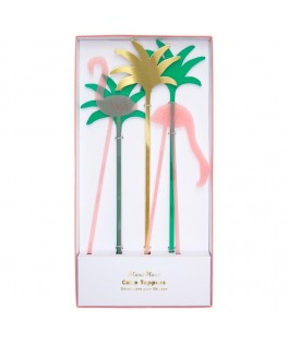 Cake Toppers Flamant rose acrylic