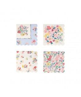 16 Petites serviettes English Garden