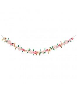 Guirlande de roses en papier English Garden 3,40 m