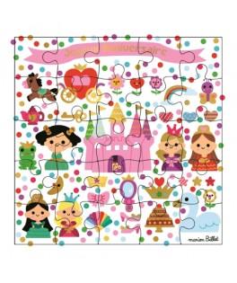 Carte Puzzle Jolies Princesses