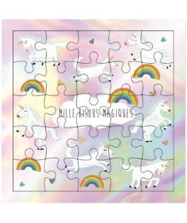 Carte Puzzle Petites Licornes