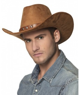 Chapeau Cowboy Nebraska adulte marron