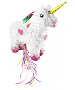 Piñata Licorne blanche