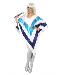 Déguisement Poncho Super Trouper bleu