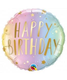 Ballon Happy Birthday pastel & or