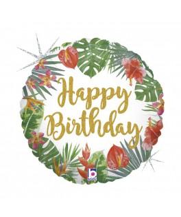 Ballon Happy Birthday Tropical