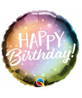 Ballon Happy Birthday ombres