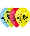 8 Ballons Dragon multicolores