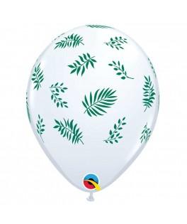 25 Ballons feuilles tropicales