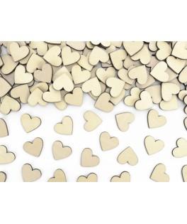 50 Confettis coeur en bois