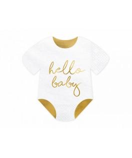 20 Serviettes Body Hello Baby