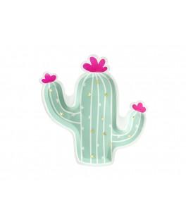 6 Assiettes Cactus
