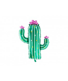Ballon métallisé Cactus - 60 x 82 cm