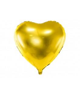 Ballon Coeur métallisé or 48 cm