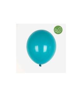 10 Ballons latex bleu canard