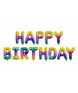Guirlande de ballons HAPPY BIRTHDAY multicolore - 3,40 m